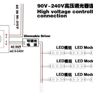 LED Triac Dimmer High Voltage 220V Dimming Controller