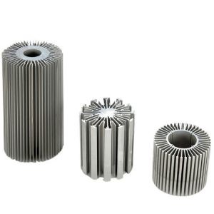 Industrial cylindrical aluminum heat sink
