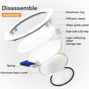 Ultra-Thin Led Recessed Lights 4000K Daylight Dimmable Ceiling Light Downlight