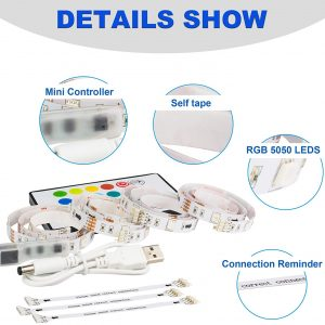 Led Strip Lights TV Usb Backlight Kit with Remote Rgb