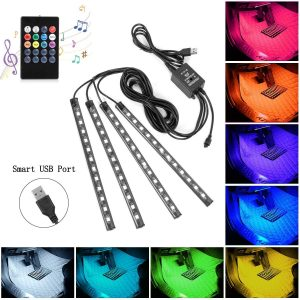 Multicolor Music Car Strip Light Under Dash Lighting Kit